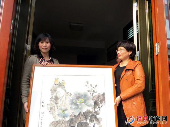走群众路线 送书画到农家--福鼎新闻网|福鼎市综合门户网